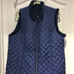 Jackets & Blazers - Reversible faux navy quilted vest
